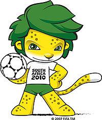 Талисман ЧМ-2010 по футболу - леопард Закуми