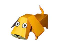 бумажный пес-оригами